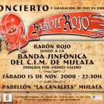 Cartel del Concierto de Barón Rojo y el CIM Mislata