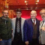 con J Lodeiro, F. Cesarini y J Durán, Certamen Galego 2015