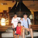con mis hijos en Baqueira